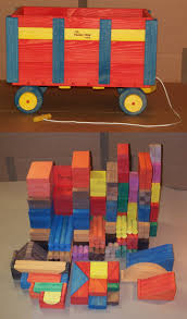 wooden toy small classroom wooden wagon w 280 building blocks w 1518