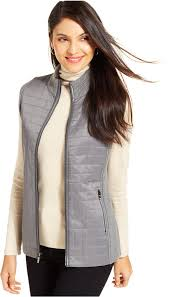 quilted vest grey quilted vest by jones new york signature