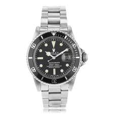 preowned second hand luxury watches the watch gallery® pre owned rolex submariner automatic stainless steel black dial mens watch 1680