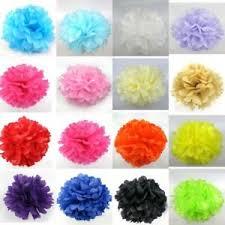 Diy Flower Balls Tissue Paper Details About 10x Tissue Paper Pompom Flower Ball Wedding Birthday Party Hanging Decor Diy