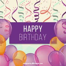 Happy Birthday Background Images Happy Birthday Background With Balloons Vector Free Download
