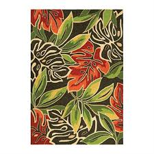 couristan 43610366 covington areca palms brown forest green outdoor rug