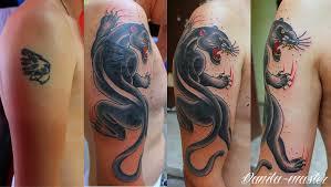 татуировки пантеры для девушек