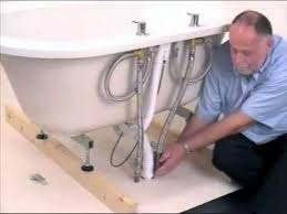 how to assemble install plumb a bath trend freestanding bath user guide