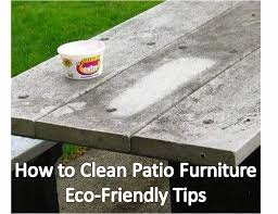 one of the great things about cleaning patio furniture with