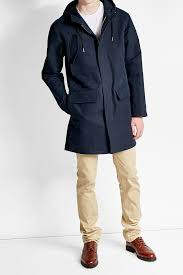 a p c cotton parka with hood blue men apc pink fur coat fast worldwide delivery