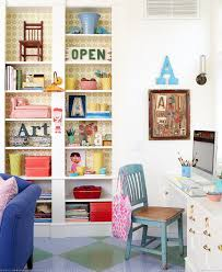 eclectic home office alison. White Is The Color Of Choice In Shabby Chic Home Office [Design: Alison Eclectic
