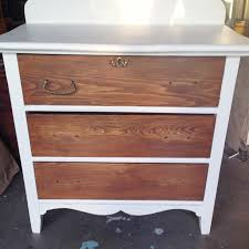 Image Guthrie Two Toned Nightstand Making Home Base Two Toned Nightstand White And Wood