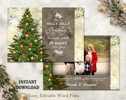 Christmas Template For Word Amazing Christmas Card Template Holiday Greeting Card Christmas Etsy