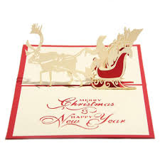 Creative Christmas Cards Handmade Christmas Cards Creative Kirigami Origami 3d Pop Up