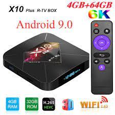 R TV kutusu X10 artı Android 9.0 akıllı tv kutusu Allwinner H6 2.4G WiFi  4GB RAM 32 GB/64 GB ROM Set üstü kutusu USB3.0 H.265 6K medya oynatıcı|4k  media player
