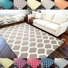 hand woven trellis reversible wool area rugs 9x12 blue