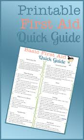 Free Printable First Aid Chart A Free Printable First Aid Guide First Aid Tips First Aid