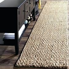 runner rugs 14 feet long rug natural fiber coastal solid hand woven jute 2 wool foot