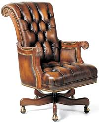 Office Chairs Classic Leather Office Chair  Bernadette Livingston