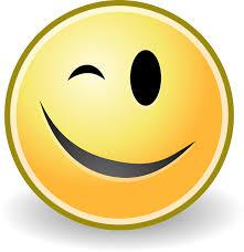 Bildergebnis für smiley schwarz weiß zwinkern