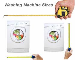 Washing Machine Sizes Chart Washing Machines And Associated Problems With Sizes