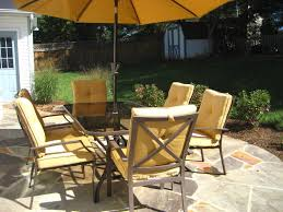 patio dining: patio dining set with umbrella inspired