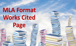 Mla Format Works Cited Page The Main Rules To List Sources