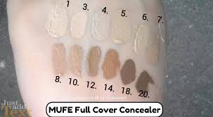 makeup forever full cover concealer review swatches of shades