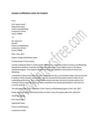 Sample Certification Letters Sample Certification Letter For Student By Sample Letters Issuu