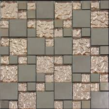 copper glass and porcelain square mosaic tile designs plated ceramic wall tiles wall kitchen backsplash gft015