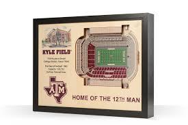 Kyle Field 3d Seating Chart Texas A M Aggies Kyle Field 3d Wood Stadium Replica 3d Wood Maps Bella Maps