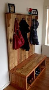 Hall Tree Coat Rack Storage Bench Hall Tree Coat Rack Storage Bench DIY from pallets Furniture and 96