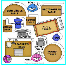 Editable Classroom Seating Chart Template Plan With Movable Images