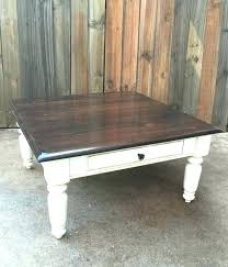 grey stained coffee table full size of rustic distressed shabby oak chic farmhouse dark stain top fr