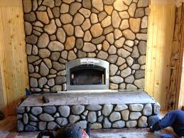 Astonishing River Rock Fireplace Diy Pictures Decoration Inspiration