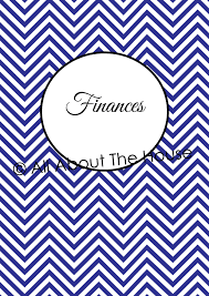 finance cover chevron finance binder set household binder printables