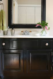 painting bathroom cabinet. Extraordinary 40+ How To Paint Bathroom Cabinets Dark Brown Painting Oak Vanity Black Home Cabinet N
