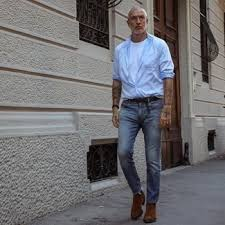 Amplify you style with dr. Light Blue Jeans With Brown Chelsea Boots Outfits For Men 59 Ideas Outfits Lookastic
