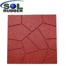 china residential outdoor patio recycled rubber flooring pavers china rubber floor
