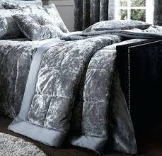 grey crushed velvet bedding crushed velvet silver double duvet cover grey crushed velvet bedding sets