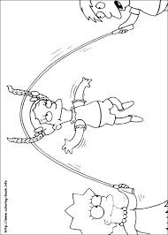 The Simpsons Halloween Coloring Pages Homer Simpson Coloring Pages