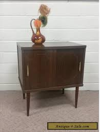 mid century record cabinet. Vintage Night Stand Mid Century Modern Record Cabinet Storage Media Antique Nightstand For Sale Clocks B