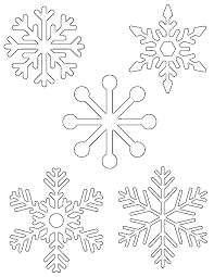 Snowflake Template Free Printable Snowflake Templates Large Small Stencil Patterns 1