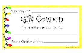 Gift Coupon Template Vertal Us