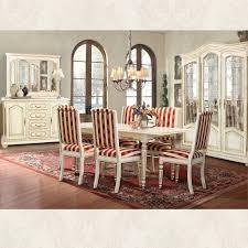 Esszimmer Set Lion Massivholzmöbel Im Landhausstil Weiß Mit Goldener Patina