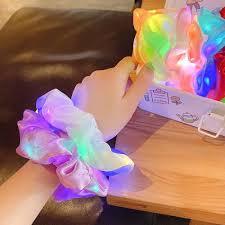 QN0093 HDF Dây cột tóc đèn LED dạ quang bóng cỡ lớn phong cách Hàn Quốc cho  nữ 25 tại