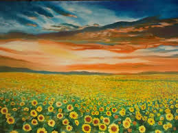 sunflower field painting by ottie garcia at touchtalent 37907