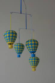 hot air balloon paper mobile