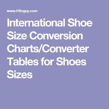 International Shoe Size Conversion Charts Converter Tables