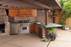 Kitchen Fireplace For Cooking Custom Outdoor Kitchen In Outdoor Area Garden Cooking Waraby