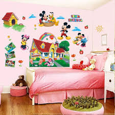 most recently released colorful mickey mouse clubhouse wall sticker 3d mural decal kids in mickey mouse