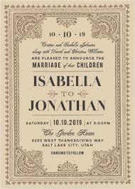 Vintage Wedding Invitation Vintage Wedding Invitations By Basic Invite