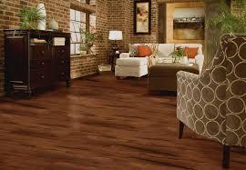 waterproof vinyl plank flooring rustic hickory hand sed room scene