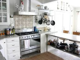 Stainless Shelves Kitchen Versatile Stainless Steel Island Hanging Pans And Pots White